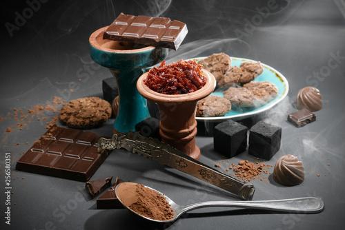 fototapeta na ścianę Chocolate hookah set