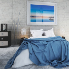 Bedroom with Sea View by Daylight (focused) - 3d visualization © 4th Life Photography