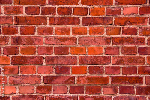 red brick wall background - 256608721