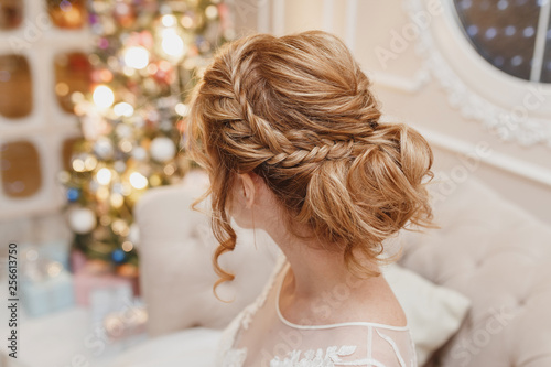 Wedding hairstyle rear view