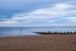 canvas print picture - Der Strand von Portobello in Edinburgh/Schottland am Abend