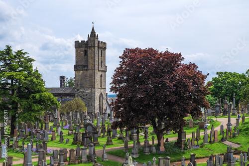 Leinwanddruck Bild Der historische Friedhof von Stirling im schottischen Hochland