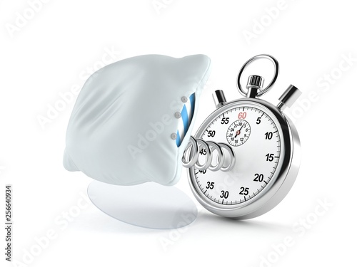 Pillow with stopwatch