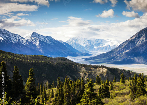Amazing landscape with mountains