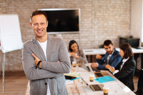 Businessman posing in the office © djile