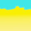 Leinwanddruck Bild - Summer background, beach. Copy space.