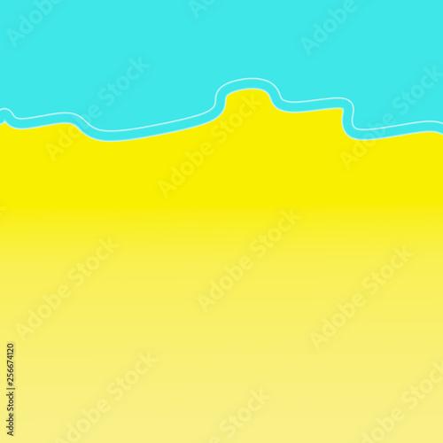 Leinwanddruck Bild Summer background, beach. Copy space.