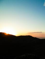Beautiful sunset over extinct volcano Montana Roja, Lanzarote. © Jan