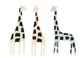 Giraffe set. Animal collection. Summer background. Vector illustration - 256683314