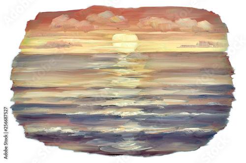 the sun sinks into the horizon at sunset