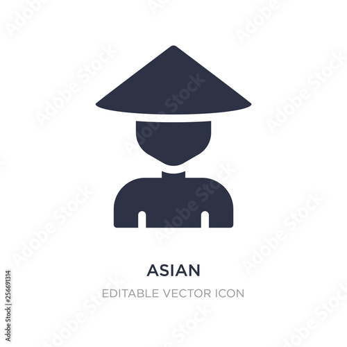 asian icon on white background. Simple element illustration from Nature concept. © zaurrahimov
