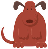 cute brown dog or puppy cartoon character