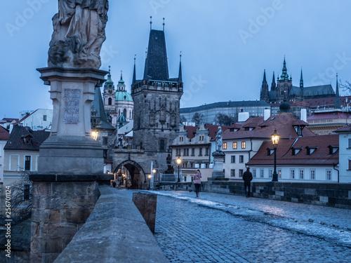 fototapeta na ścianę Prague at dawn
