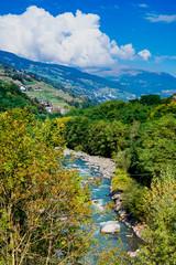 valley in Trentino,  river Adige, Italy © Corinne