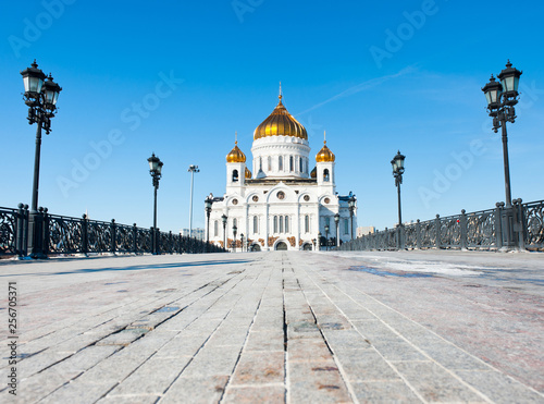 The Cathedral of Christ the Savior in sunny winter day, Moscow, Russia