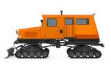 Snowcat Vehicle Isolated