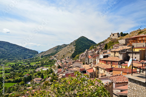 In the Italian region of Campania lies Letino, a beautiful medieval town - 256726553