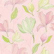 Magnolia Floral Pattern - Vector - 256746330