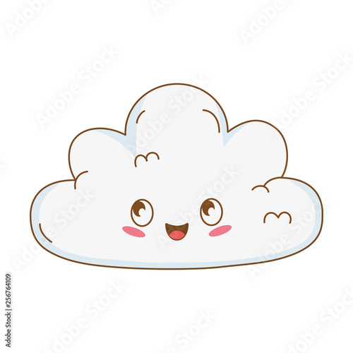 cute cloud kawaii character - 256764109