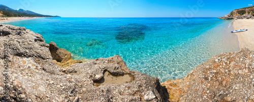 Drymades beach panorama, Albania. - 256793538