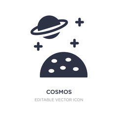 cosmos icon on white background. Simple element illustration from Weather concept.