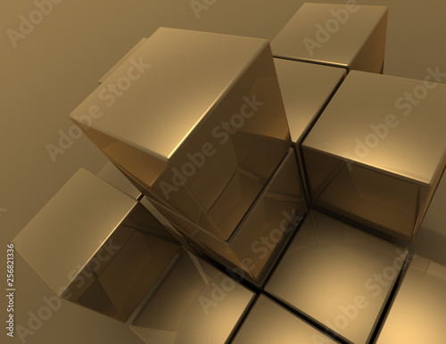 abstract cubes background. 3d illustration