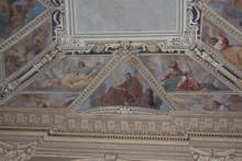 "Постер, картина, фотообои ""Ceiling frescoes in the upper church San Fermo Maggiore in Verona, Veneto, Italy."""