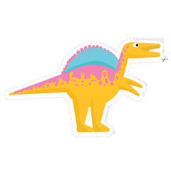 dinosaur vector sticker