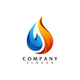 liquid fire logo vector