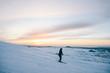 Snowboard rider silhouette