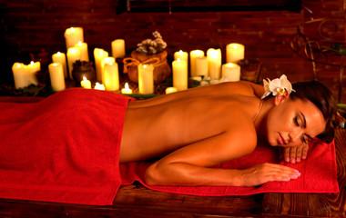 Anti discomfort lymphatic massage for tired body © Gennadiy Poznyakov