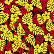 Tropical plant illustration pattern - 257047186