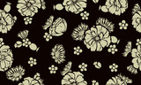 Seamless pattern with poppies and cornflower. Design of beautiful summer textile print