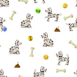 Seamless pattern background with dalmatian.