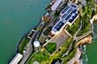 canvas print picture - Alcatraz in San Francisco from above with DJI Mavic 2 Drone