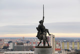 Equestrian statue of King Svatopluk I and Bratislava panorama