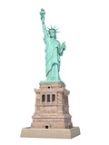 Statue of Liberty in New York City, USA  isolated on white. - 257172911