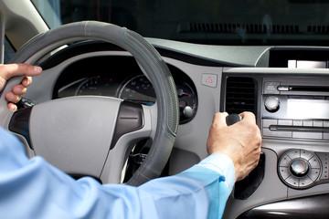 Car driver hands. © Kurhan