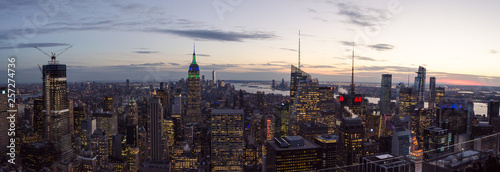 New York sunset panorama - 257274736