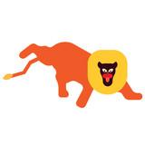 Lion flat illustration on white