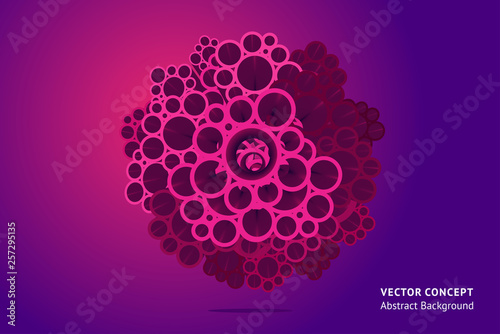 3d abstract concept with volume effect. Perspective composition with vector shape. Trendy design background.