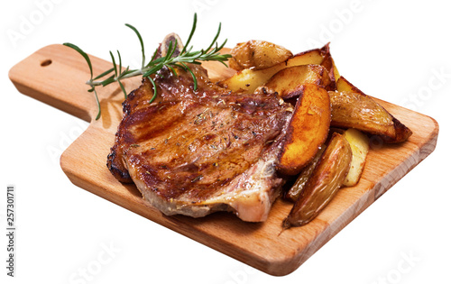 Leinwanddruck Bild Juicy roasted entrecote