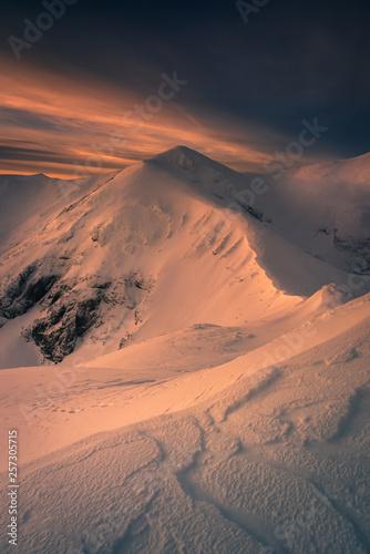 Winter mountain trail to the Kopa Kondracka.