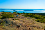 View of the Maine coastline from the Cadillac Mountain in the Acadia National Park