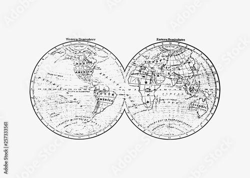 Antique world map drawing © Rawpixel.com