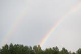 Fototapeta Tęcza - Double rainbow and sunbeams © writerfantast