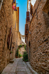 On the streets of Spello, picturesque village in Umbria, province of Perugia, Italy. © Iryna Nazarova
