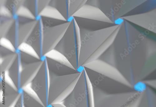 3D rendered shapes. Geometric design for background.  - 257366505