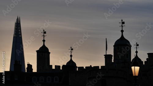 canvas print picture Tower of London UK silhouette