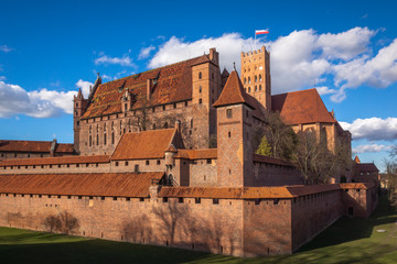 Teutonic castle in Malbork, Pomorskie, Poland